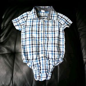 Baby Gap Plaid Onsie WT4